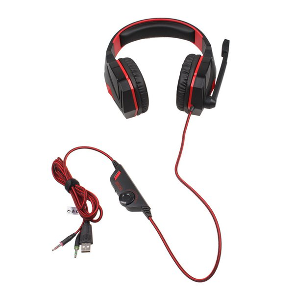 Novo LED Gaming Headset 3.5mm PC Gaming Headphone Surround Stereo Headband do Fone de Ouvido com Cancelamento de Ruído Microfone PC Tablet Telefone Móvel