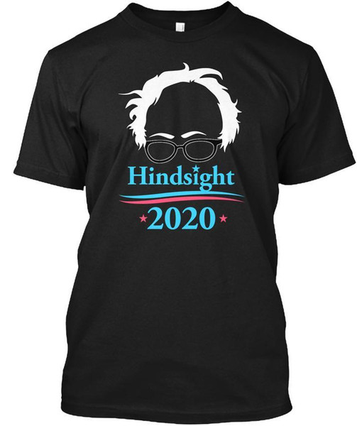 Movie T Shirts Short Graphic Bernie Sanders Hindsight Is 2020 O-Neck Mens Tees