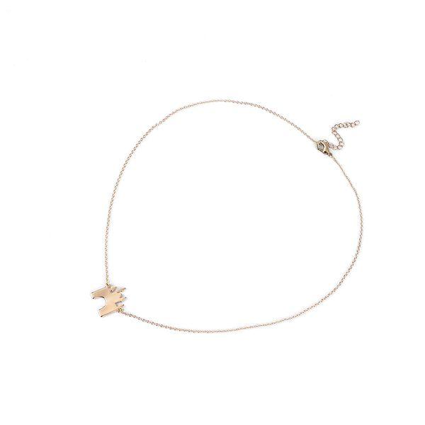Hot Sale 1 pc Summer Simple Charming Gold/Silver/Rose Gold Exquisite Fairy Tale Building Pendant Castle Necklace Choker Chain