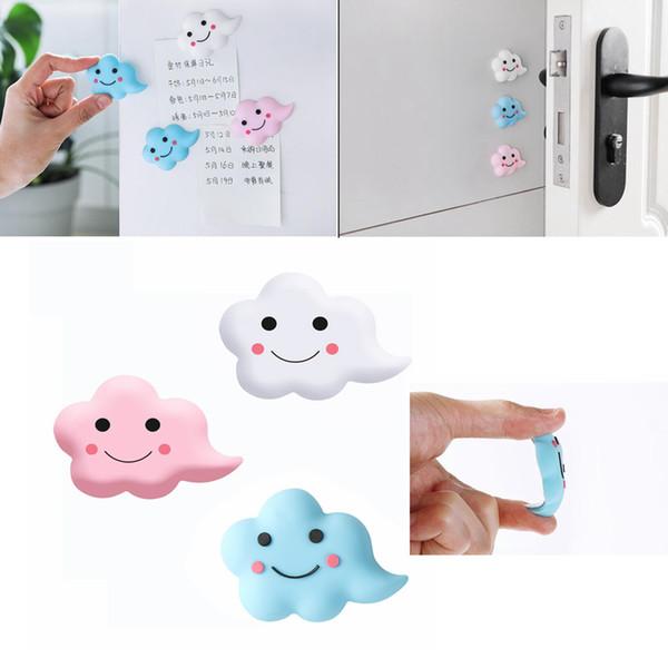 DIY Kühlschrank Aufkleber Cartoon Wolke Form Kühlschrankmagnete Anti Collision Home Decor Nachricht Halter 3 Farben AAA1117