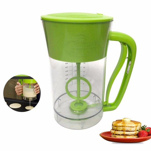 Fast Automatic Kitchen Mixing Pancake Maker Express Pancake Batter Dispenser Cupcake Baking Essentials Cake Tools With Color Box