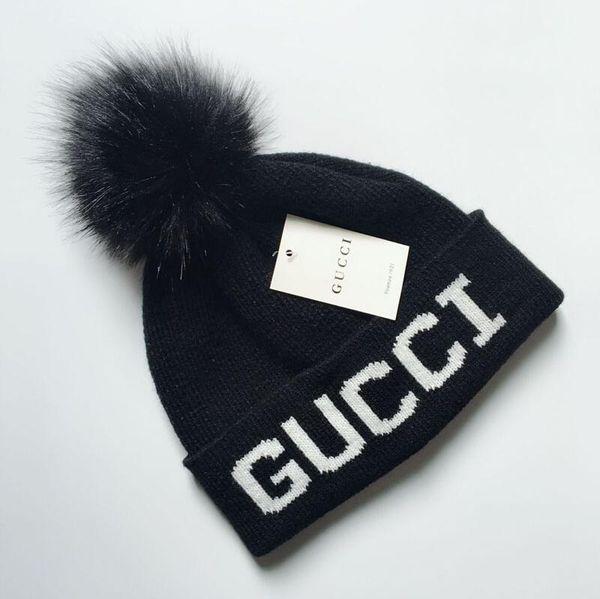 2019 Women's Fashion Knitted Cap Autumn Winter Men Cotton Warm Hat Brand Heavy Hair Ball Twist Beanies Solid Color Hip-Hop Wool Hat 2200