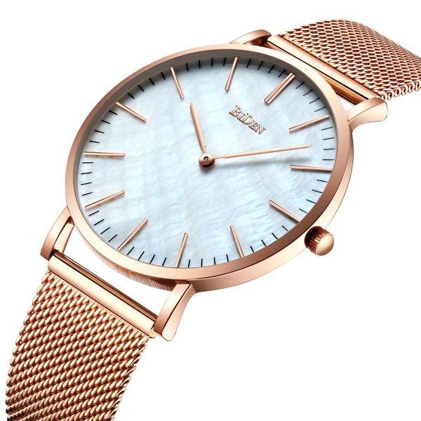 Biden Men's Ultra Thin Fashion Watch Business Simple Best Selling Men's Watch Designer Top Gold Men Stainless Steel