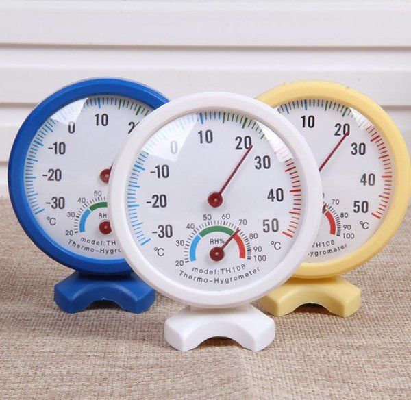 best selling Round Shape Mini White Indoor Outdoor Analog Centigrade Thermometer Hygrometer Temperature Humidity Meter Measuring tools SN279