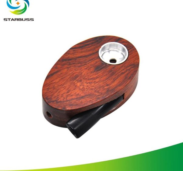 Classic wooden pipe Mini Oval wooden smoking set