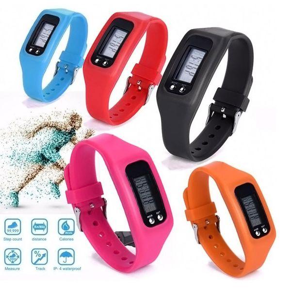 Pedometro elettronico digitale LCD a colori multi-passo Esegui distanza calorie contatore sportivo Calibro sportivo Bracciale Smart Step Tracker