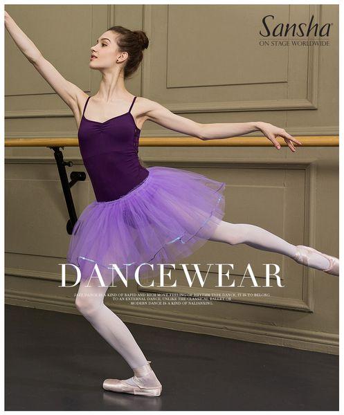 8b06400fd Sansha Adult High Quality Ballet Tutu Skirt Black Pink White Purple Royal  Blue Dance Skirt 57AE010P