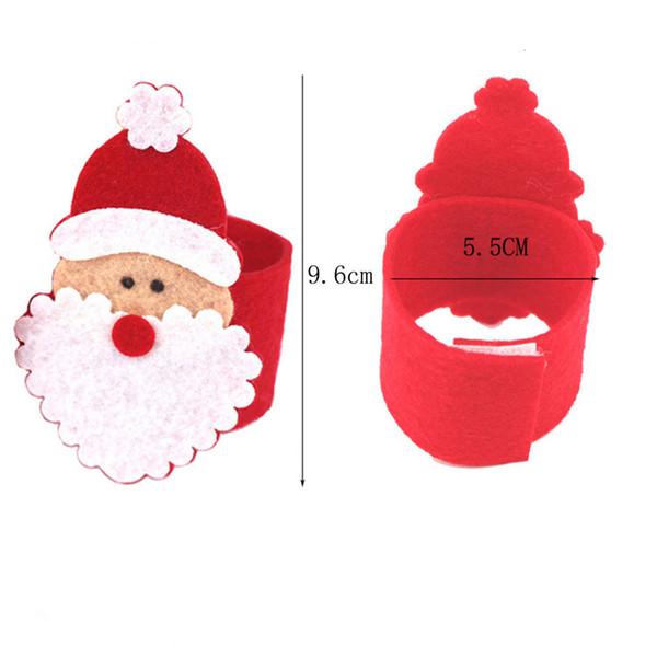 1 PCS DIY Christmas Santa Claus Napkin Ring Serviette Holders Table Decor Restaurant Supplies