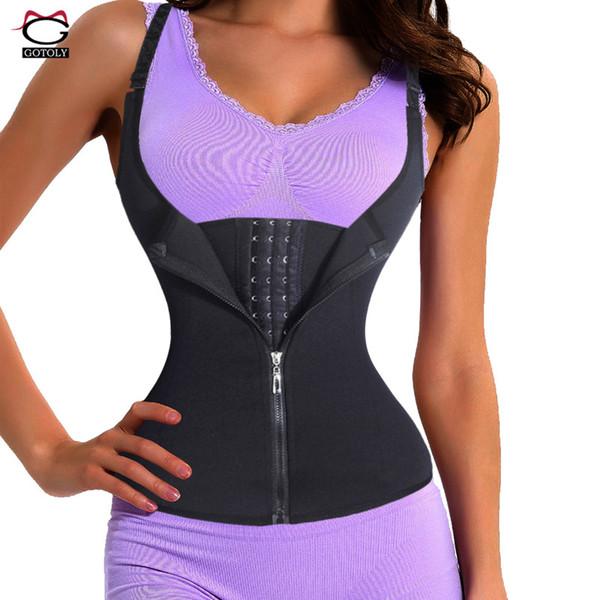 c182c392887f9 Adjustable Shoulder Strap Waist Trainer Vest Corset Women Zipper Hook Body  Shaper Waist Cincher Tummy Control Slimming Shapewear
