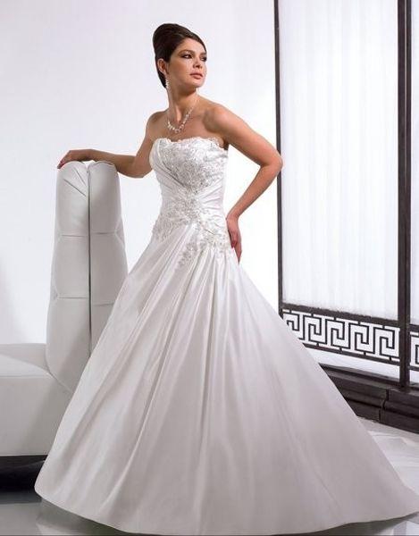 Cetim Regal A-line querida macio aberto de volta lace-up assimétrica cintura capela trem cristais contas de vidro lantejoulas vestido de noiva