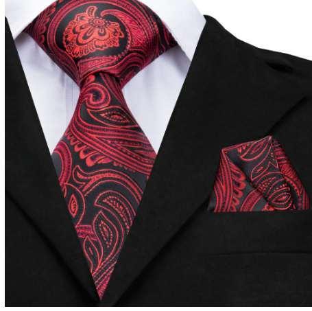 Artı boyutu 160cm uzun büyük 100% ipek kravatlar erkekler için moda kırmızı paisley erkek boyun kravat mendil seti 9cm geniş büyük erkek boyun kravat cz-012