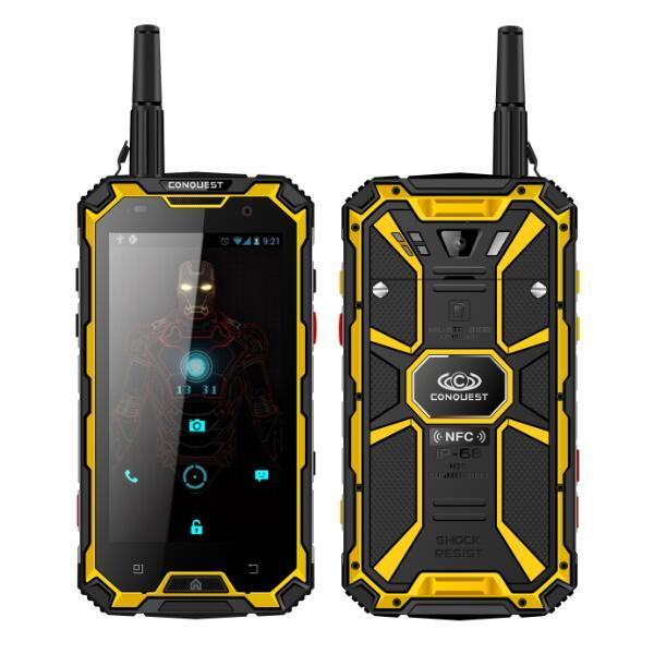 Original CONQUEST S8+ S8 ram 6G+128G rom IP68 Waterproof Phone PTT Smartphone GLONASS 6000mAh Battery GPS NFC 4G LTE IP68 Shockproof phone