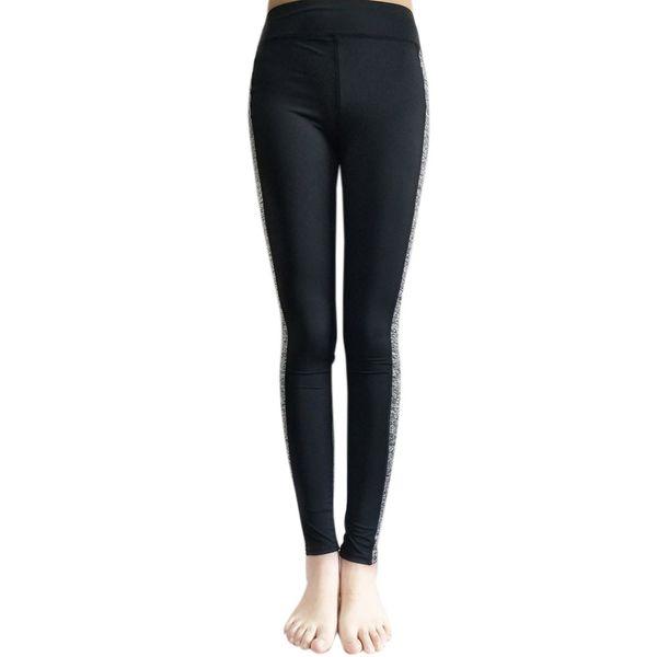 Mulheres de costura Leggings Esporte Fitness cintura alta Palestra Donna Push Up Sweatpants jogging filleSMT0