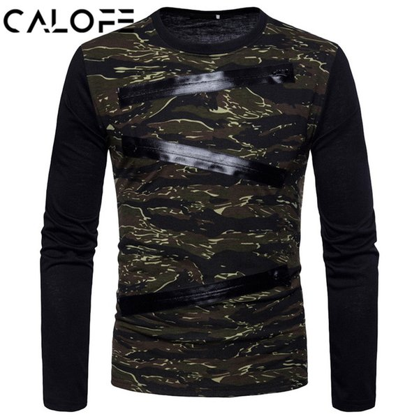 2018 Men Fake Zipper Yoga T-shirt Long Sleeve Fitness Gym Running Shirts Camouflage Workout Tank Top Basketball Soccer T Shirt