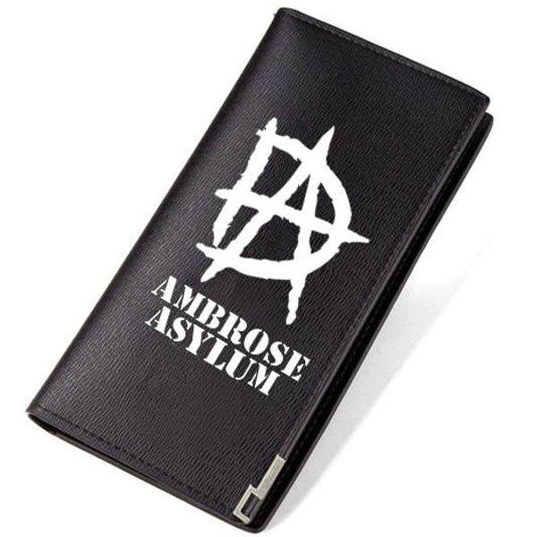 DA carteira Dean Ambrose bolsa de Wrestling estrela do esporte curto longo couro nota de dinheiro caso Dinheiro notecase Loose change burse bag Titulares de cartão