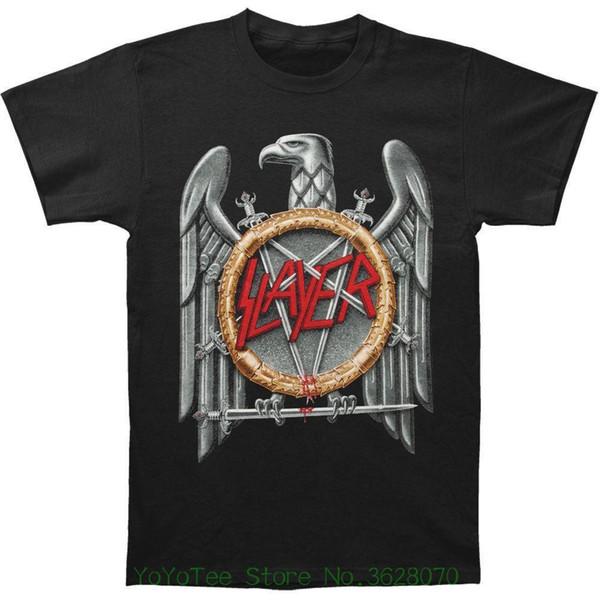 T-shirts 2018 Brand Clothes Slim Fit Printing Men' S Silver Eagle T-shirt Small Black