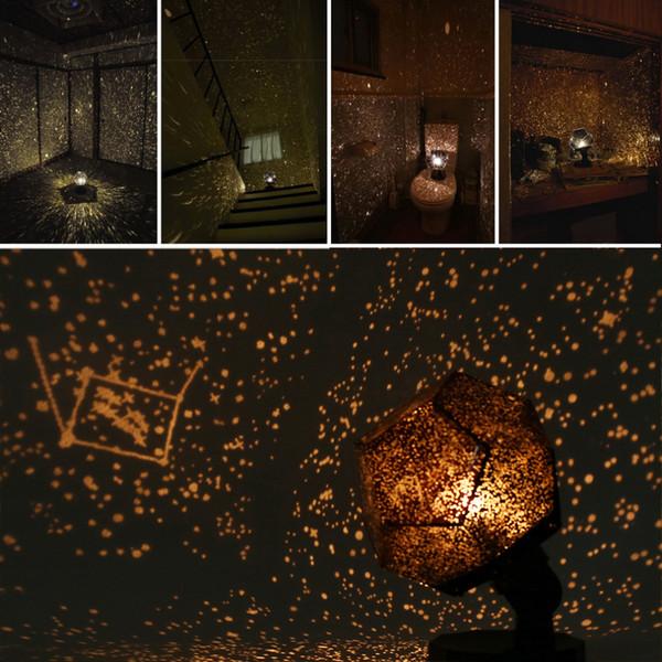 Night Light Revolving Lamp Romantic Cosmos Beautiful Gift 3D Sky Projector Star Master Bambini Stellato Natale Colore giallo