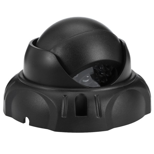 Realistic Dummy Surveillance Security Dome Camera with Flashing LED Red Light Dome Dummy Fake Camera Infrared IR CCTV