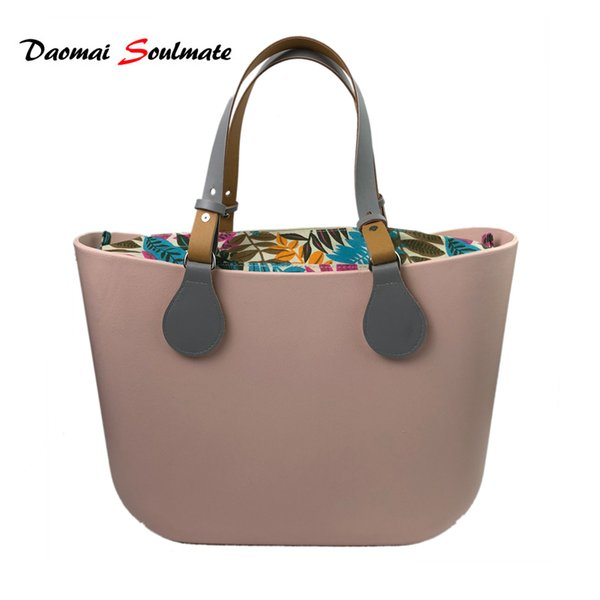 Classic DIY Silicon women Bag Pink body bag with adjustable handle O obag style waterproof EVA body women handbag