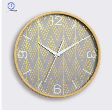 Moderno Relógio De Parede Mudo Para Home Decor Minimalista Relógios De Parede De Ouro De Luxo Do Vintage Mysterious Rodada Silenciosamente Relógios De Quartzo Agulha