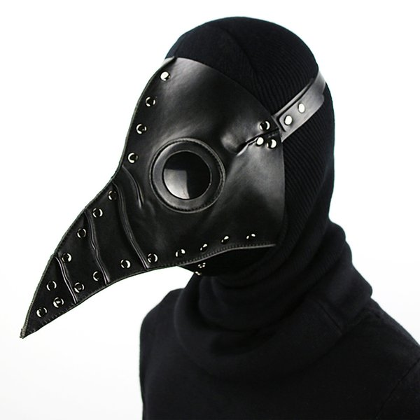 Bird Beak Spike Steampunk Mask Adjustbale Headband Halloween Costume Props Halloween Party Cosplay Free Shipping G220S