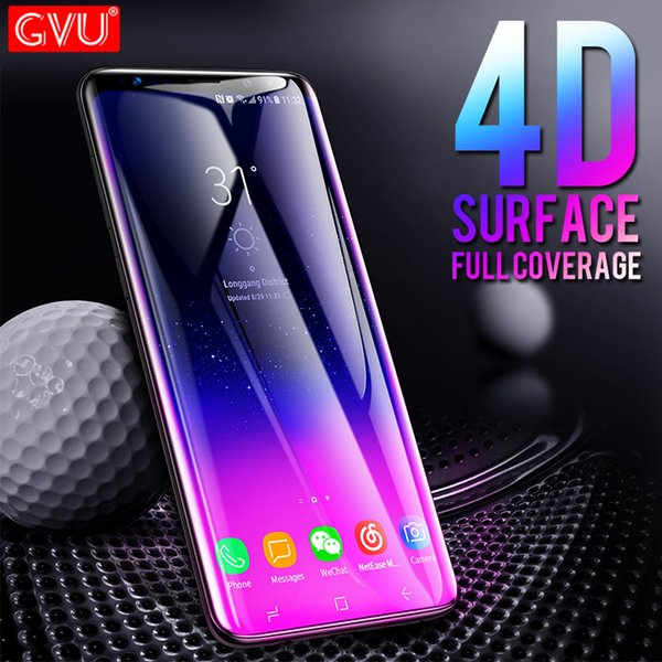 GVU 4D Full Cover Tempered Glass For Samsung Galaxy S8 S9 Plus Note 8 Film Screen Protector For Samsung S6 S7 edge Glass Cover