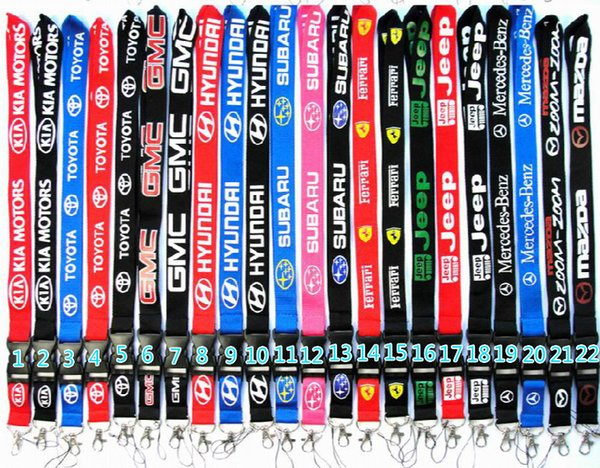 Free Shipping Brand-name Car brand lanyard Suitable for mobile phones Camera ipod keychain phone case