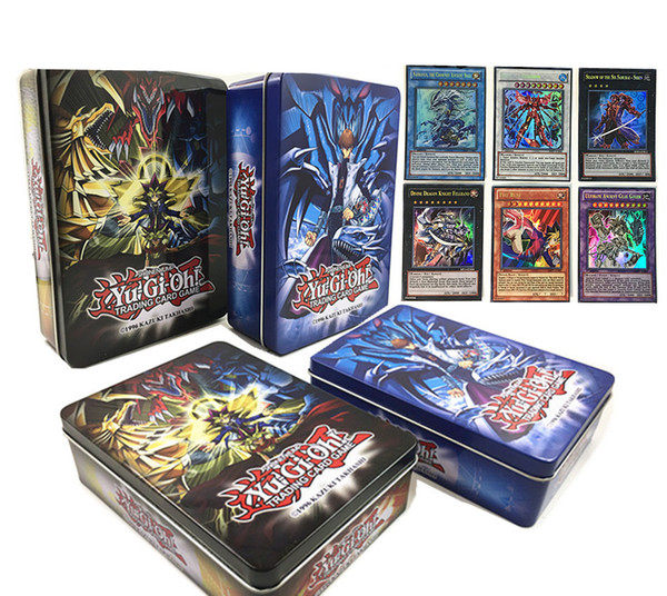 60 pcs/box Don't Repeat Flash Cards Yugioh Flash Cards Baby Card Game Toys English Version Boys Girls Games Collection Cards Christmas Gift