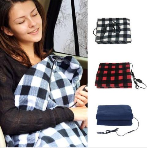 2019 Wholesales Free shipping 12V Electric Heated Car Van Truck Fleece Cosy Warm Winter Blanket Cover Heater
