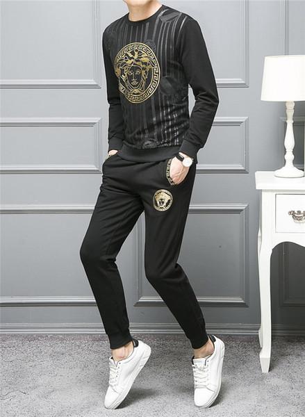 Joggers Motion Hoodies Suit Мужская весна и осень с длинным рукавом Мужская молодежь Корейское время досуга Мужская одежда