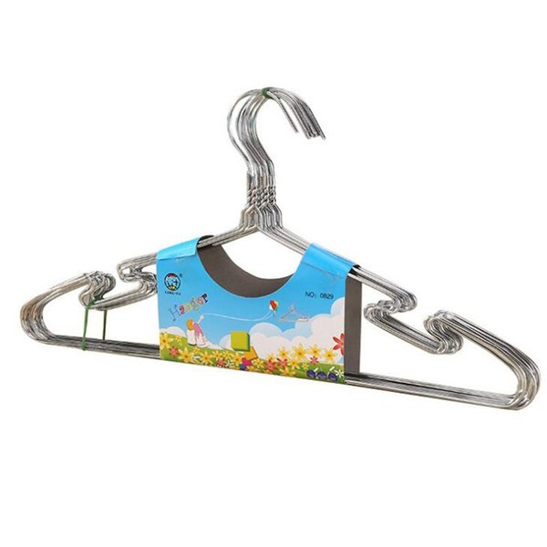 High Quality Metal Clothes Hanger with Groove Stainless Steel Hanger Silver 40cm Drying Rack Free Shipping QW8633