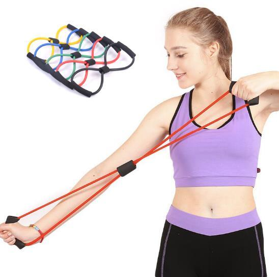 best selling High quality 36cm Fitness Resistance Bands Resistance Rope Exerciese Tubes Elastic Exercise Bands for Yoga Pilates Workout