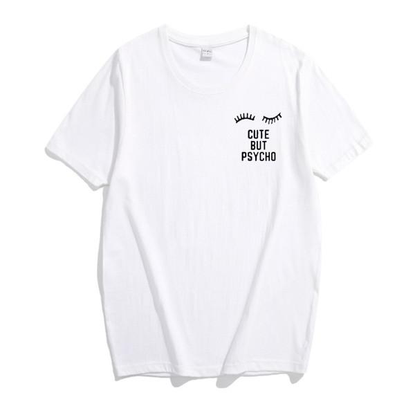 T Shirt Women 2018 New Summer Cute But Psycho Letter Print Korean Short-Sleeve Women's T-Shirt Loose Cheap Clothes T Shirt