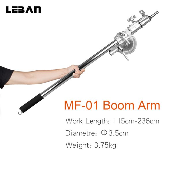 Acero inoxidable más largo 236cm MF-01 Photo Studio Kit Boom Arm 115cm - 236cm 45