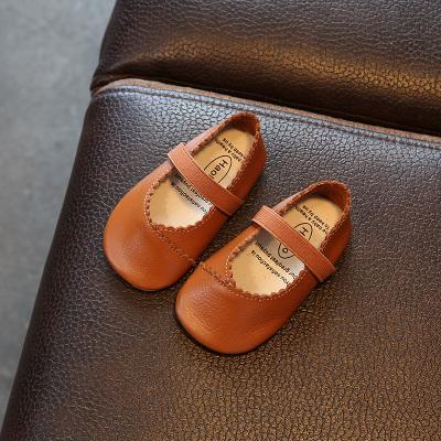 2018 crianças de pele de carneiro artesanal sapatos para meninas de couro genuíno sapatos bonitos em quatro cores top quality frete grátis