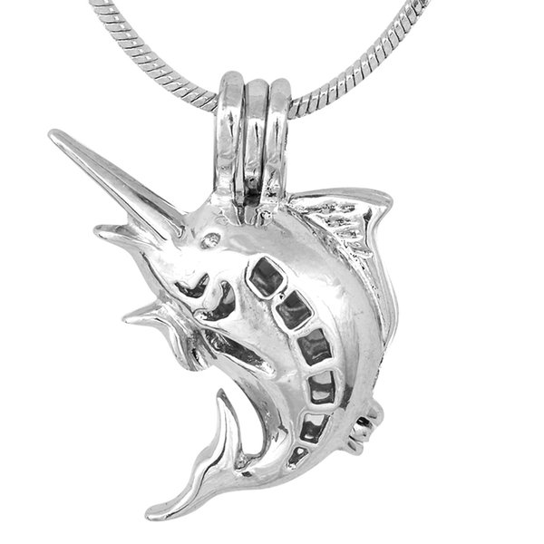 New Hot Sale Stylish Like fat fish Modern sliver Cage Pendants Mounting for DIY Fashion Charms P79