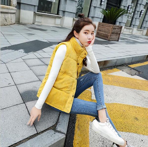 Und Cord Den Staaten Weste Vereinigten Daunenjacke Neue Weste Frauen Modelle Herbst Von Frühjahr Großhandel Damenbekleidung Europa Und Jacke Kurze TclJF1K