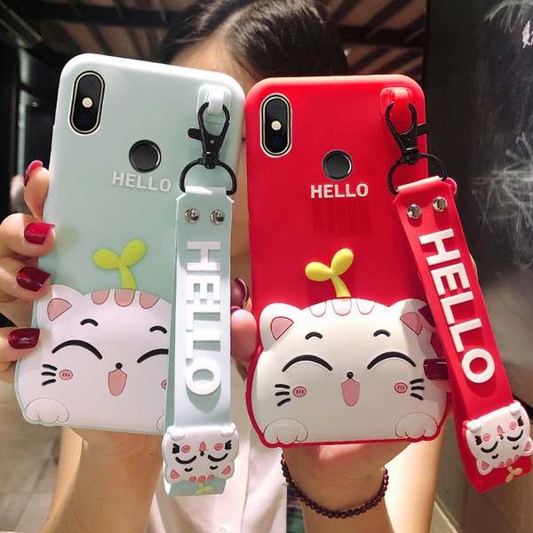 New Fashion 3D Cute Cartoon Cat Soft Rubber Silicone Shockproof Drop Protection Skin Durable Bumper Case For Xiaomi Mi A1 A2 8 Redmi 6 6A