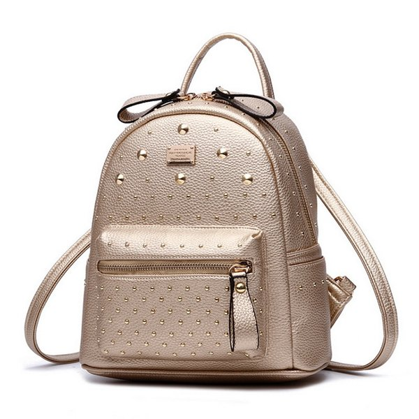 uggage Bags Backpacks New Fashion Women MINI PU Leather Backpack Rivet design Women's Backpacks Casual Ladies Bags Luxury female leather ...