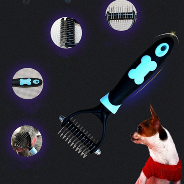 Double Sided Pet Comb Professional Open Knot Combs for Dogs Cats Hair Trimmer Shedding Fur Removal Tools Pets Grooming Brushes
