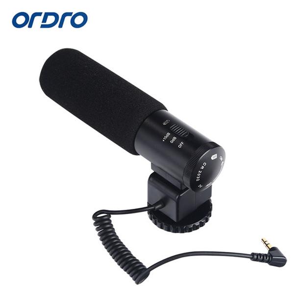 Ordro Mikrofon Video Kayıt Mikrofon Mic HDV-Z20 Z82 Video Kamera SLR DSLR ve Fotoğraf Ücretsiz Nakliye Için