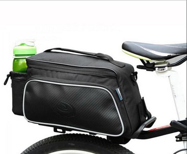 10L Cycling Bike Carbon Fiber Leather Bicycle Rear Rack Seat Pannier Bag Saddle Pouch Bike Bag Accessories