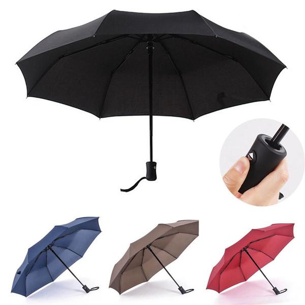 Automatic Umbrella Windproof Mens Black Compact Wide Auto Open Close Lightweight Umbrellas Rain Gear Black Red Blue Coffee