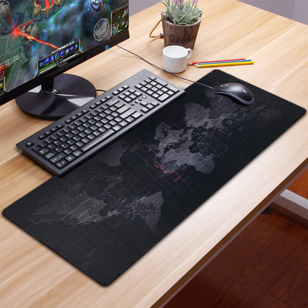 High Quality Extra Large Mouse Pads Old World Map Gaming Mousepad Anti-slip Natural Rubber Gaming Mouse Mat with Locking Edge