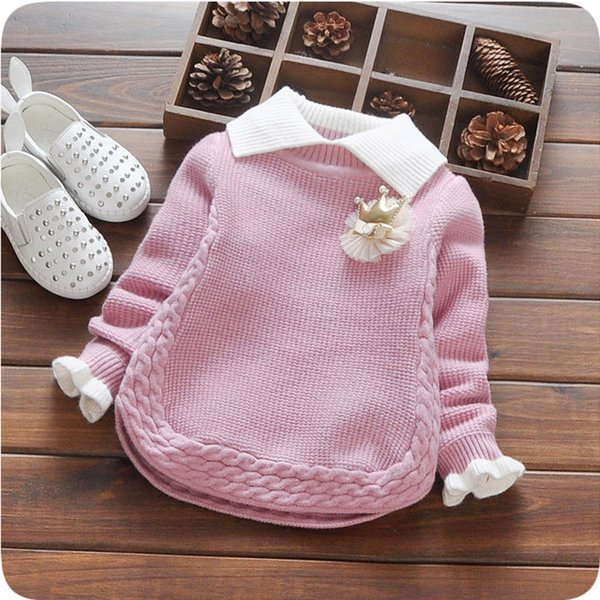 and Winter Wear Thick Sweater Baby Sweater Pullover Children Girl's New Year Christmas