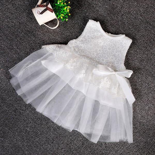 2015 Summer Style Baby Dress Baptism Dress for Girl Infant 1 Year Birthday for Baby Girl christening Infant