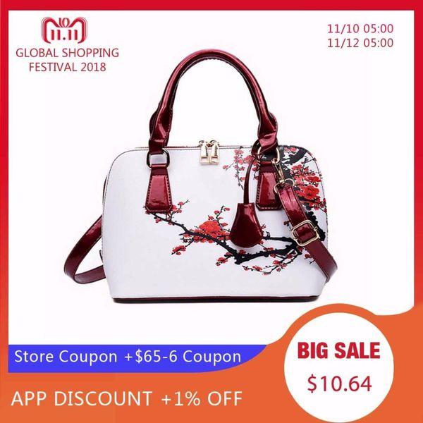 2019 Fashion NIBESSER Printed Bags For Women 2018 Designer Bags Famous Brand Women Shopper Bag Shell Elegant Floral Shoulder Luxury Handbags