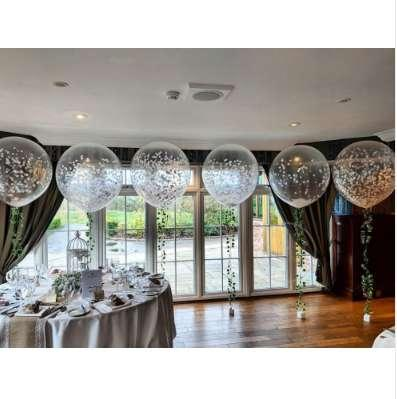 10pcs 36 inch 25g Jumbo Big Round Latex Balloons Transparent Clear Giant Wedding Ballons Birthday Bridal Shower Party Decoration