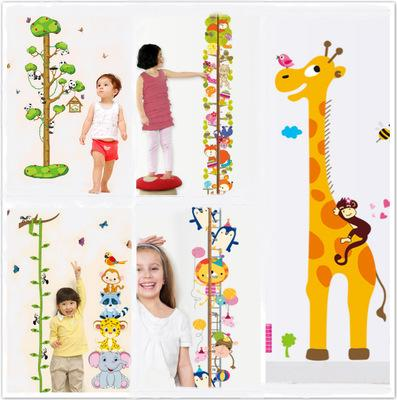 4 Styles Grow Chart Wall Sticker Wallpaper Wall Picture Art Vintage Room Home Decor Kitchen Accessories Household Craft Suppllies