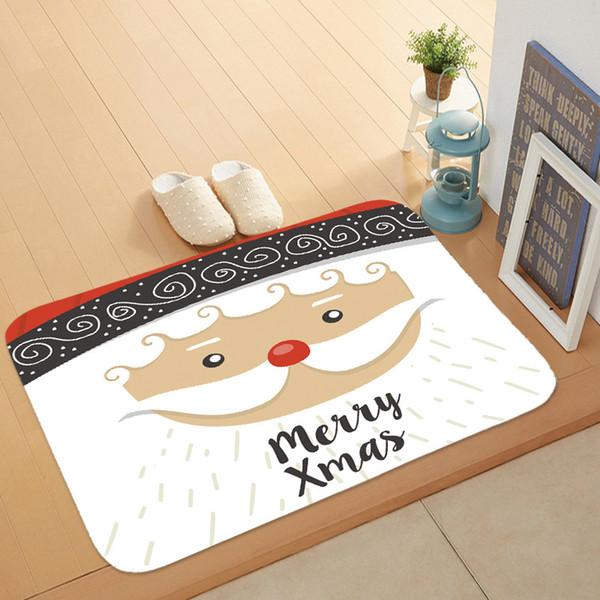 Weihnachten Bodenmatte Cartoon Nette Schneemann Flanell Fußmatte Neue Design Frohe Weihnachten Bodenmatte Tapete Tür Küche Schlafzimmer Teppich